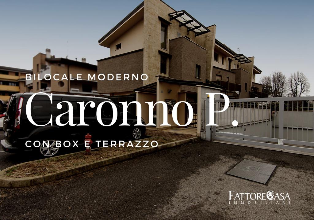 bilocale moderno caronno pertusella con box e terrazzo